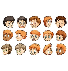 A group of heads vector image