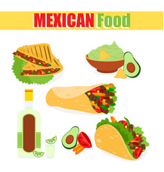 a set mexican vector image