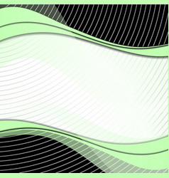 abstract green waves with shadows and circles vector image