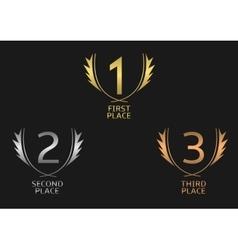 Award label set vector image