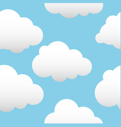 Background with clouds white vector