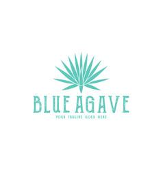 Blue agave logo vector