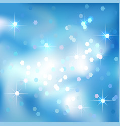blue sky abstract background clouds and stars vector image