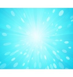 blue sunny rays background vector image
