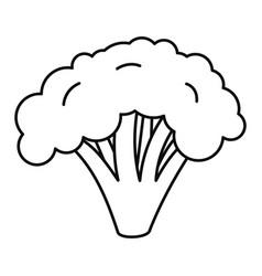 Broccoli icon outline style vector