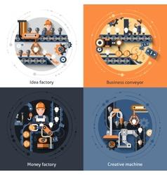 Business Conveyor Set vector