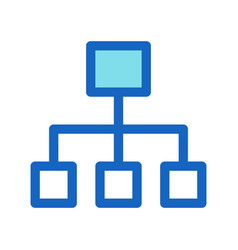 business structure filled line icon blue color vector image