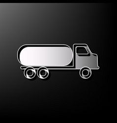 Car transports sign gray 3d printed icon vector