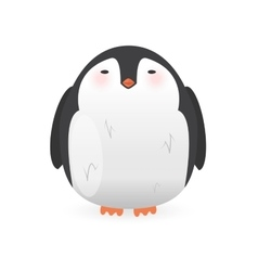 Cartoon penguin character funny bird vector