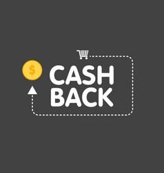 Cashback concept logo coins vector