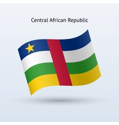 Central African Republic flag waving form vector image