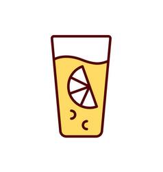 citrus juice rgb color icon vector image