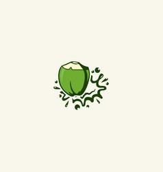 Coconut splash logo design inspiration vector