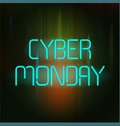 cyber monday poster vector image