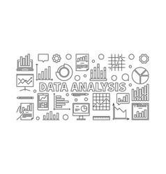 Data analysis horizontal banner vector