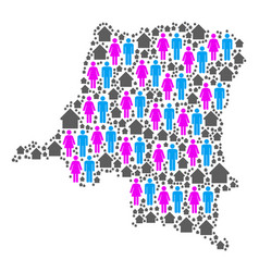Demographics democratic republic congo map vector