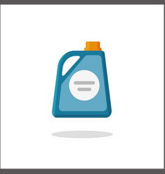 Detergent bottle icon flat cartoon vector