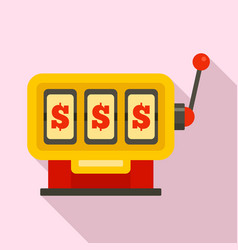 dollar slot machine icon flat style vector image