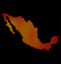 Dotted orange mexico map vector