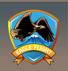 Eagle mountain vector