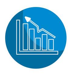 Emblem business statistic data growing diagram vector