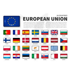 European union eu and membership flag vector