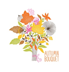 Floral autumn bouquet vector