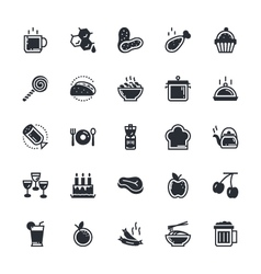 Food vegetables icons 2 vector