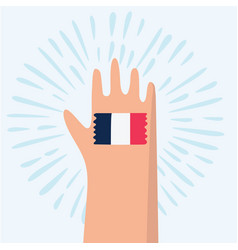 France hand giving ok vector