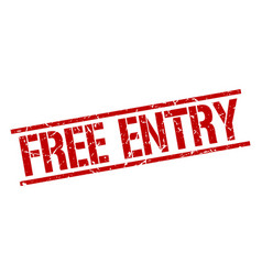free entry stamp vector image