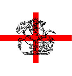 George and the dragon patriotic flag vector