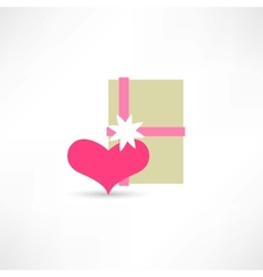 Gift on the St Valentins Day vector image