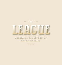 golden colored serif font vector image