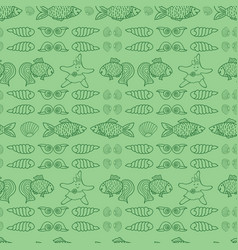 green nautical repeat pattern for kids vector image