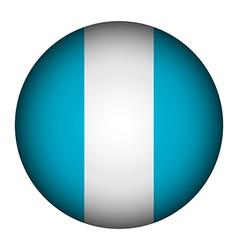 Guatemala flag button vector image