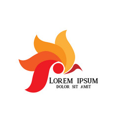 Head rooster logo vector