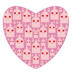 heart shape consist of funny condoms iliustration vector image