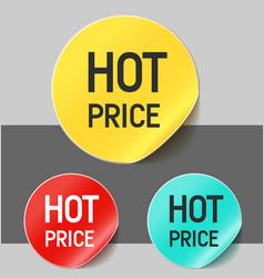 Hot price stickers vector