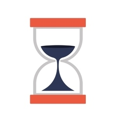 Hourglass with dark blue sand flat icon vector image
