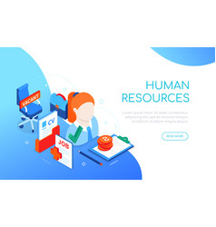 Human resources - modern colorful isometric web vector