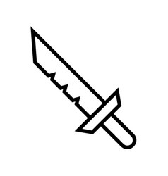 Icon outline sword isolated on white background vector