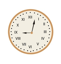 Isolated retro clock vector