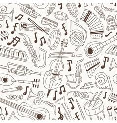 jazz - seamless background vector image