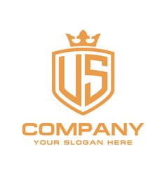Letter us initial logo luxury logo design vector