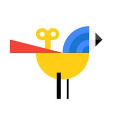 Logo a bird in a cartoon style flat icon the vector
