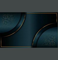 Luxurious dark green overlap layer background vector
