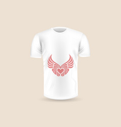mens t-shirt icon on backgroundround neck jersey vector image