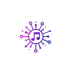 Music share logo icon design vector