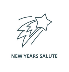 new years salute line icon linear concept vector image