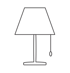 night lamp icon vector image